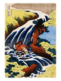 Yoshino Waterfall: Yoshitsune Washing His Horse  from the Series A Journey to the Waterfalls of All