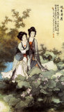 Ladies with Lotus Flowers
