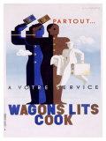 Wagons-Lits Cook Giclée par Adolphe Mouron Cassandre