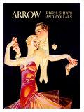 Arrow - Chemise de soirée et collerettes Giclée par Joseph Christian Leyendecker