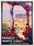 Monaco, Monte-Carlo Giclée par Roger Broders