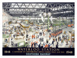 1948 English Waterloo Railway Poster