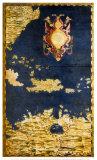 Carte des Caraïbes et du Vénézuela Reproduction d'art par Danti Egnazio