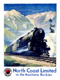 North Coast Limited Railroad  Montana Rockies