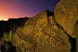 Detail of Petroglyphs at Petroglyph National Monument