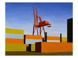 Containers with Crane