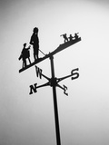 Golfer And Caddy Weather Vane