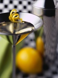 Martini Glass with Lemon Rind