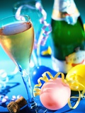 New Year's Party with Champagne