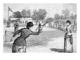 Ladies Lawn Tennis Tourney; Illustration
