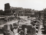 Roman Colosseum and Surrounding Ruins