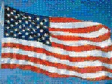 American Flag Mosaic