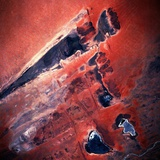 Low-Earth-Orbit View of Lakes in Mali