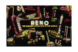 Montage of Neon Signs in Reno