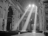 Sunbeams Inside St Peter's Basilica