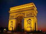 Arc de Triomphe de l'Etoile Illuminated at Night