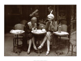 Café et cigarette, Paris 1925 Reproduction d'art