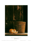 Wooden Bucket and Oranges