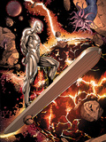 Silver Surfer No3: Riding through Space