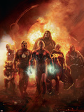 Annihilation: Conquest No6 Cover: Adam Warlock  Quasar  Star-Lord and Ronan The Accuser