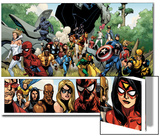 Secret Invasion No1 Group: Captain America  Spider-Man and Vision