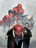 Powerless No1 Cover: Spider-Man  Peter Parker  Wolverine  Daredevil  Matt Murdock and Logan