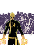 The Immortal Iron Fist No6 Cover: Iron Fist  Randall and Orson Charging