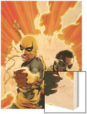 Power Man and Iron Fist No4 Cover: Iron Fist and Power Man Posing