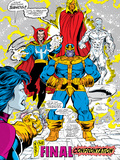 Infinity Gauntlet No5 Group: Thanos  Dr Strange  Silver Surfer  Adam Warlock and Nebula Crouching