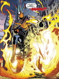 Amazing Spider-Man/Ghost Rider: Motoerstorm No1: Spider-Man Riding a Flaming Motorcycle