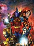 War of Kings: Who Will Rule No1 Cover: Gladiator  Gorgon  Crystal  Karnak  Havok and Medusa