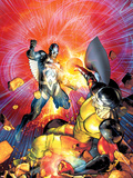 War of Kings No6 Cover: Black Bolt and Vulcan