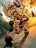 Fear Itself: The Home Front No3: Juggernaut Charging and Smashing