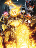 Timestorm 2009/2099 No2 Cover: Ghost Rider  Punisher  Cerebra  Spider-Man and Human Torch