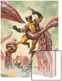 Wolverine/Hercules: Myths  Monsters & Mutants No4 Cover: Trapped by a Sea Monster