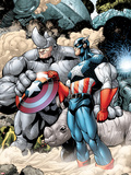 Marvel Adventrues Super Heroes No5: Captain America and Rhino Holding the Shield