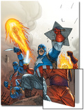 The New Invaders No2 Cover: Captain America