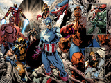 Annihilators: Earhfall No2: Wolverine  Valkyrie  Captain America  Thing  Spider-Man and Others
