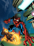 Timestorm 2009/2099 No4 Cover: Spider-Man and Ghost Rider
