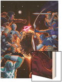 Annihilators: Earhfall No2 Cover: Gladiator Valkyrie  Captain America  Red Hulk & Others Fighting