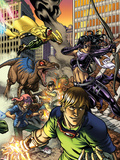 Secret Invasion: Runaways/Young Avengers No3 Cover: Vision  Hawkeye  Stein and Chase