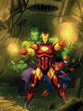 Marvel Adventures Super Heroes No4 Cover: Iron Man  Hulk and Spider-Man