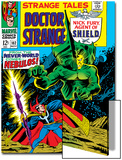 Strange Tales No162 Cover: Dr Strange and Nebulos Flying
