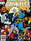 Infinity Gauntlet No6 Cover: Adam Warlock  Thanos  Nebula  Silver Surfer  Hulk and Thor Fighting