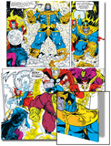 Infinity Gauntlet No6 Group: Thanos  Hulk  Thor and Dr Strange