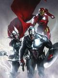 Secret Invasion No6 Cover: Captain America  Thor and Iron Man