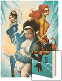 Marvel Divas No3 Cover: Photon  Hellcat  Black Cat and Firestar