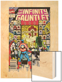 Infinity Gauntlet No2 Cover: Captain America  Thor and She-Hulk