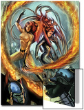Secret Invasion: Inhumans No2 Cover: Medusa and Crystal Fighting
