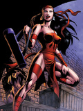 Herc No8: Elektra Posing in an Alleyway